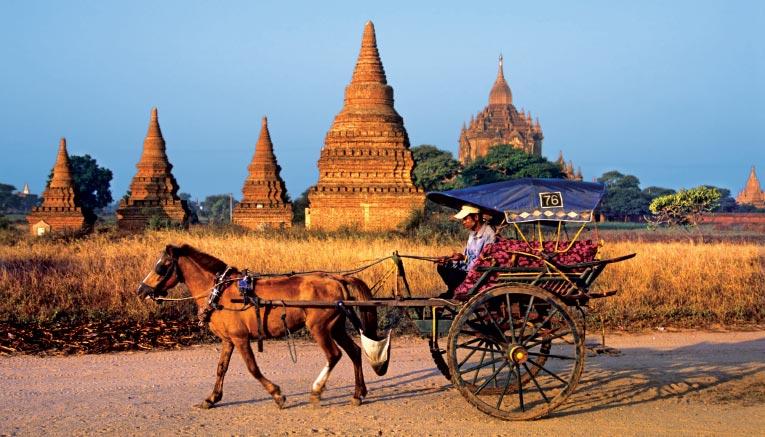 Khung cảnh những ngôi chùa ở Myanmar
