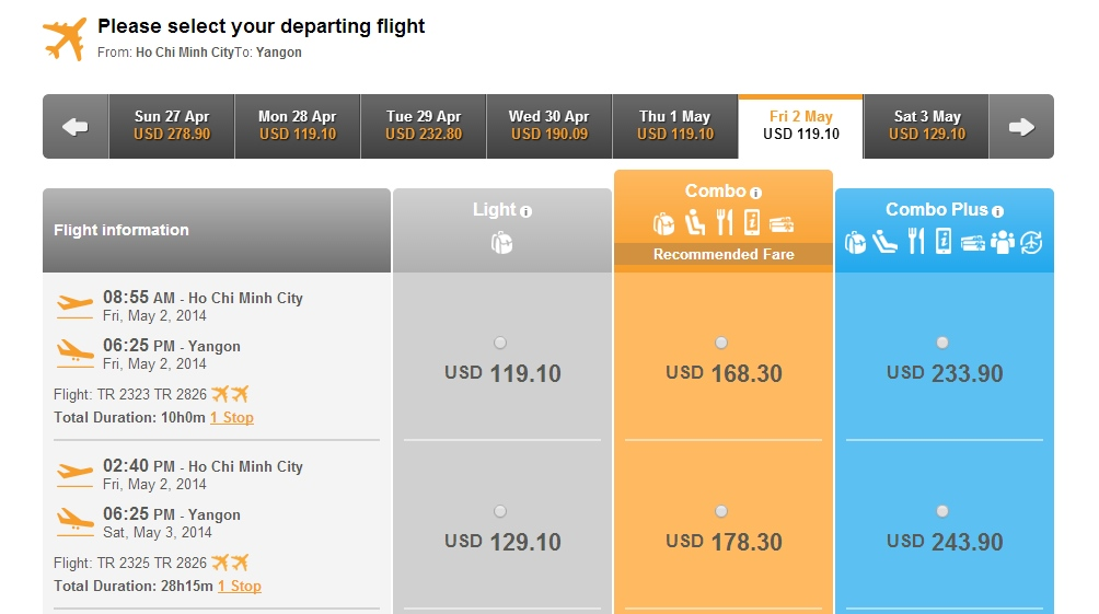 Air Asia đi Yangon