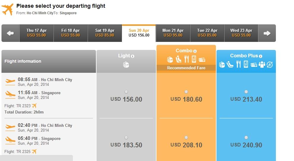 Air Asia đi Singapore