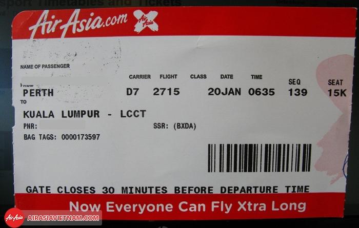Quy định về hoàn đổi vé máy bay Air Asia