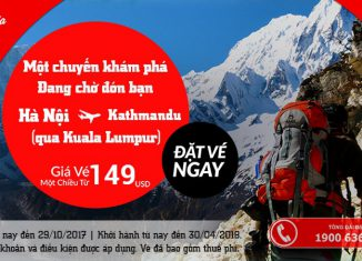 Air Asia KM vé đi Kathmandu chỉ từ 124 USD siêu rẻ