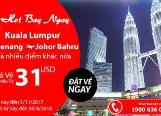 Air Asia KM vé rẻ đi châu Á chỉ từ 31 USD siêu rẻ