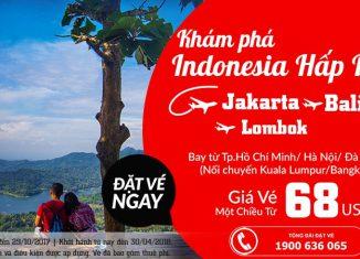 Vé Air Aisa từ 68 usd đến Indonesia tháng 10