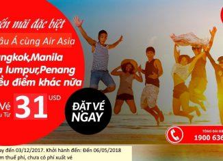 Air Asia KM vé rẻ năm 2018