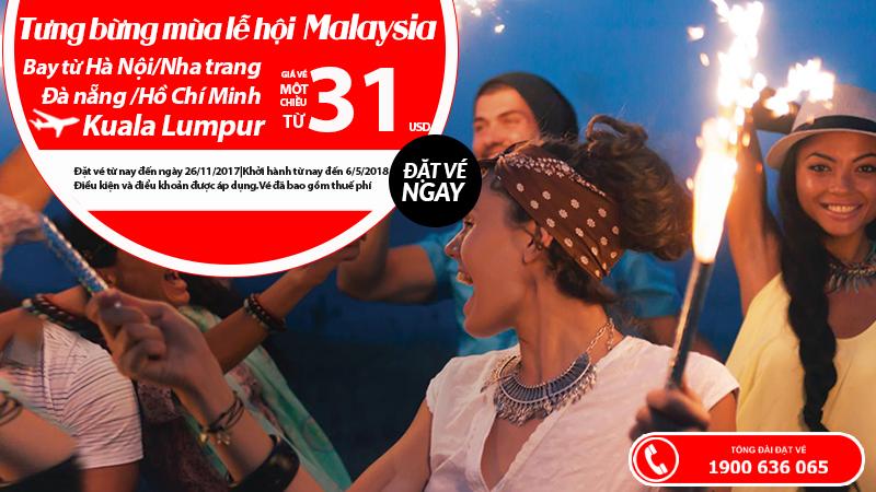 Air Asia KM vé đi Malaysia chỉ từ 31 USD