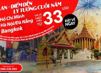 Air Asia KM vé bay Thái Lan cuối năm