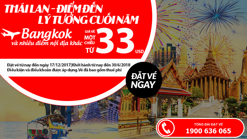 Trải nghiệm du lịch Thái Lan bất tận chỉ từ 33 USD