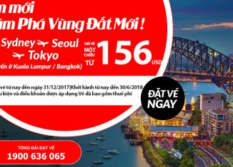Air Asia khuyến mại giá vé chỉ từ 156 USD
