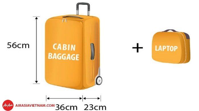 Những quy định hành lý xách tay của Air Asia