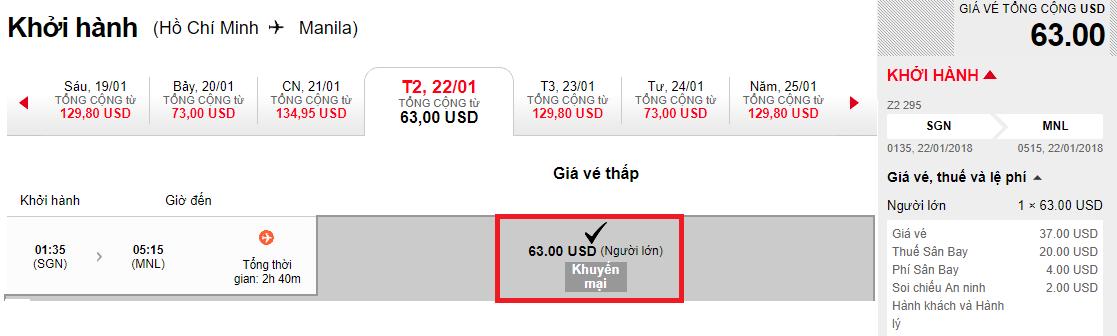 Hành trình Hồ Chí Minh - Mani la chỉ từ 63 USD