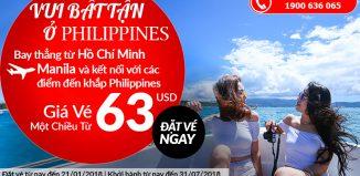 Air Asia khuyến mại vé máy bay đi Manila chỉ từ 63 USD