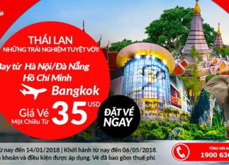 Air Asia khuyến mại giá vé chỉ từ 35 USD