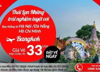 Air Asia KM vé máy bay đi Thái Lan chỉ từ 33 USD