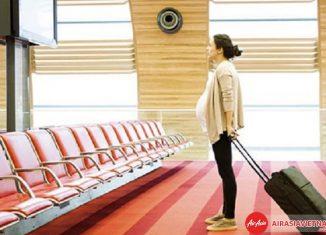 Quy định bà bầu đi máy bay của Air Asia