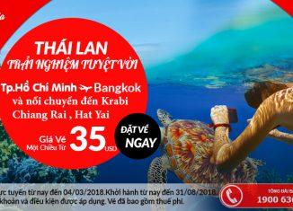 Air Asia khuyến mại vé máy bay đi Thái Lan