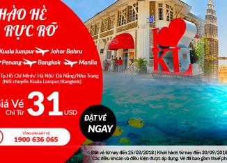 Air Asia khuyến mại vé chỉ từ 31 USD