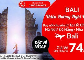 Air Asia khuyến mại đi Bali chỉ tw 74 USD