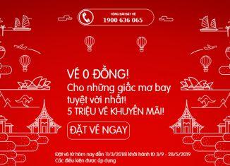 Air Asia khuyến mại 5 triệu vé 0 đồng