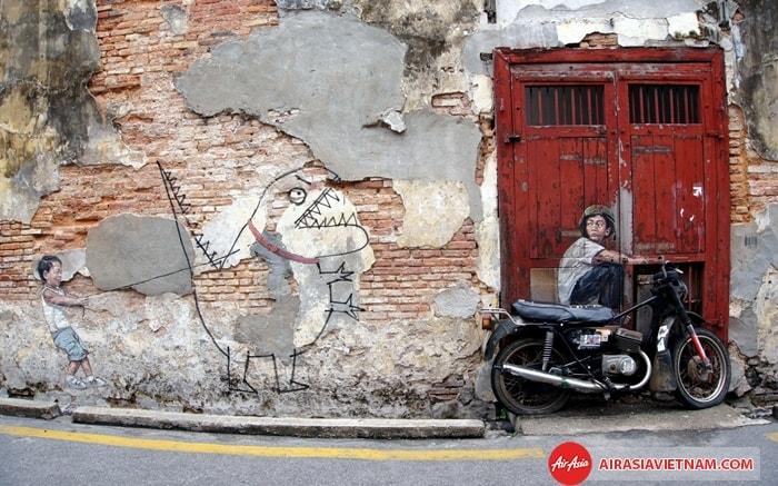 Bức tường tranh tại Penang