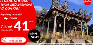 Air Asia khuyến mại vé máy bay đi Penang