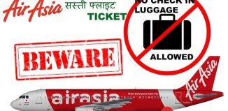Những vật không được mang theo trong hành lý Air Asia