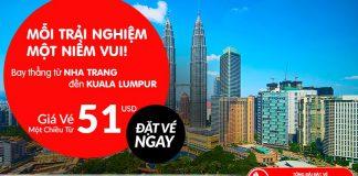 Air Asia mở bán vé rẻ đi Kuala Lumpur