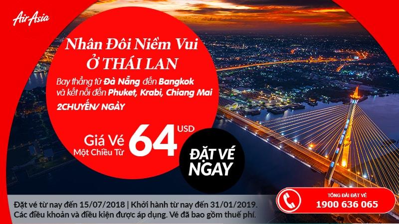Đặt vé máy bay đi Thái Lan khuyến mại
