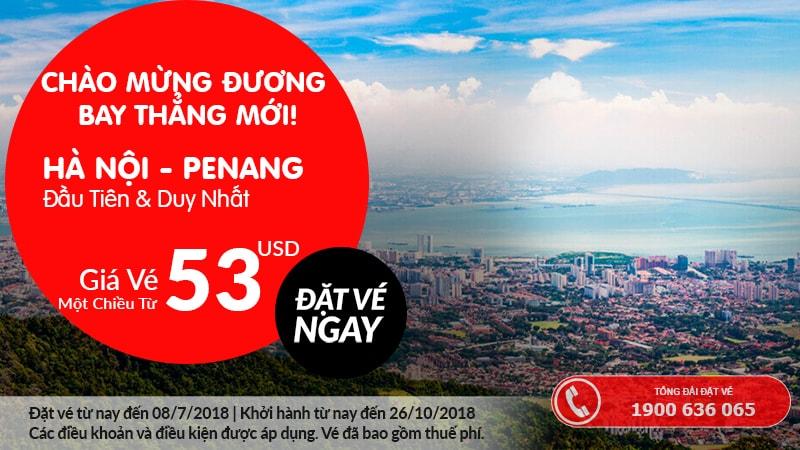 Đặt vé Air Asia đi Penang từ 53 USD