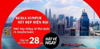 Phú Quốc đến Kuala Lumpur chỉ với 28 USD