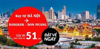 Bay thẳng từ Hà Nội đến Bangkok chỉ 51 USD