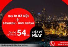 Từ Hà Nội đến Bang kok chỉ từ 54 USD