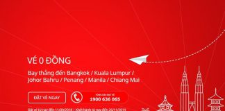 vé máy bay chỉ 0 đồng từ Air Asia