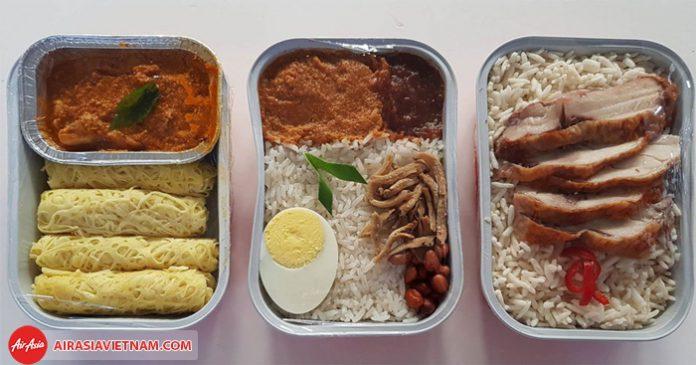 Đồ ăn của hãng Air Asia
