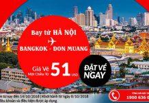 Bay thẳng từ Hà Nội đến BangKok chỉ với 51 USD
