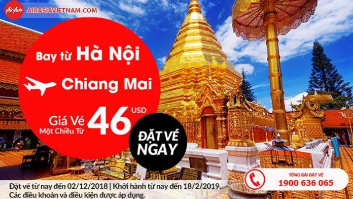 Vé máy bay khuyến mãi từ Hà Nội đi Don Muang