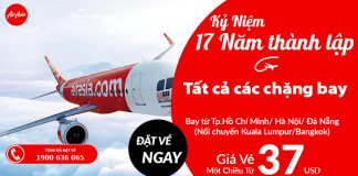 Giá vé khuyến mãi từ Air Asia