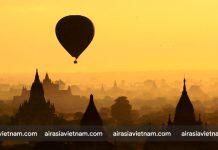 Bình minh ở Bagan