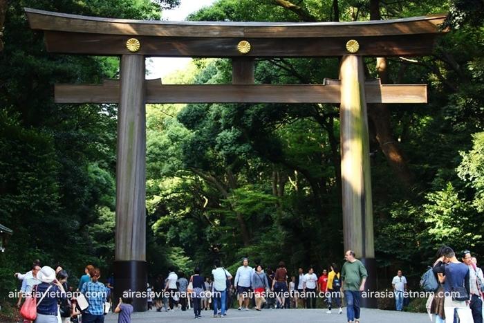 Hòa mình vào thiên nhiên ở đền Meiji