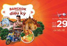 Vé máy bay khuyến mãi đường bay mới từ Nha Trang - Bangkok