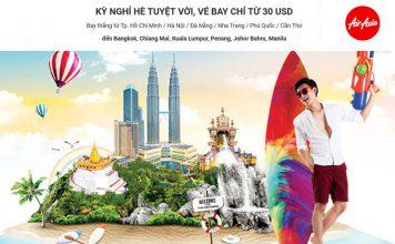 Khuyến mãi chào đón kỳ nghỉ hè từ Air Asia