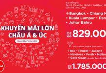 Bay khắp châu Á, châu Úc cùng chương trình khuyến mãi Air Asia