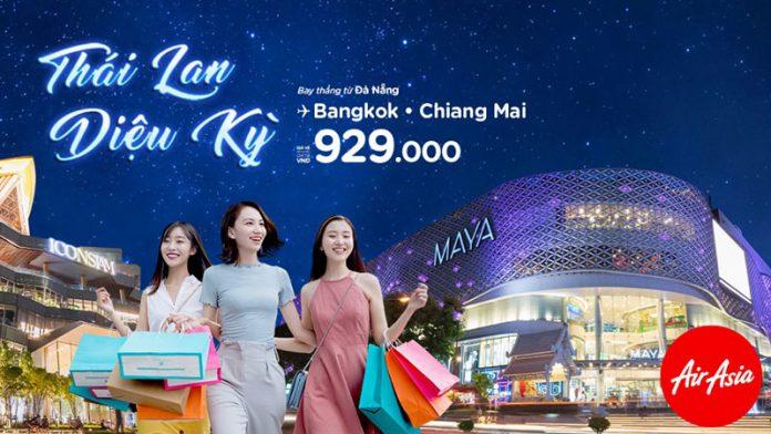 Air Asia khuyến mãi tháng 9 săn vé máy bay đi Thái Lan chỉ từ 929.000 VNĐ