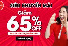 Air Asia khuyến mãi chào tháng 10 giảm giá lên đến 65%